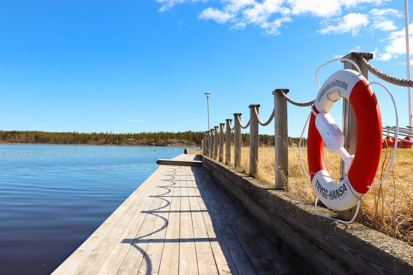 En bild från Gumboda gästhamn i Robertsfors kommun
