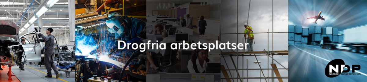 Collage av bilder som visar olika arbetsplatser. En produktionslina, en svetsare, en byggarbetsplats, kontor och logisitik med flygplan.png